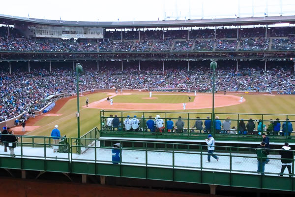 Wrigley Field, section 3643 Sheffield - Rooftops Row, home of ...